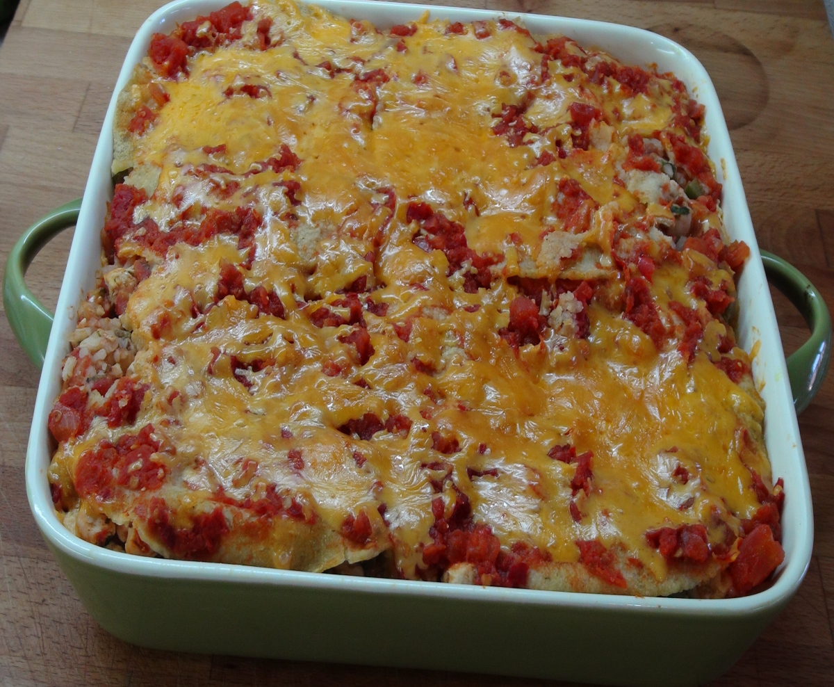 Chicken Casserole Recipe with Tortillas - The Frugal Chef