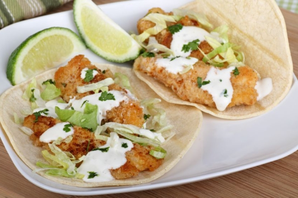 Beer battered fish tacos the frugal chef for Making fish tacos